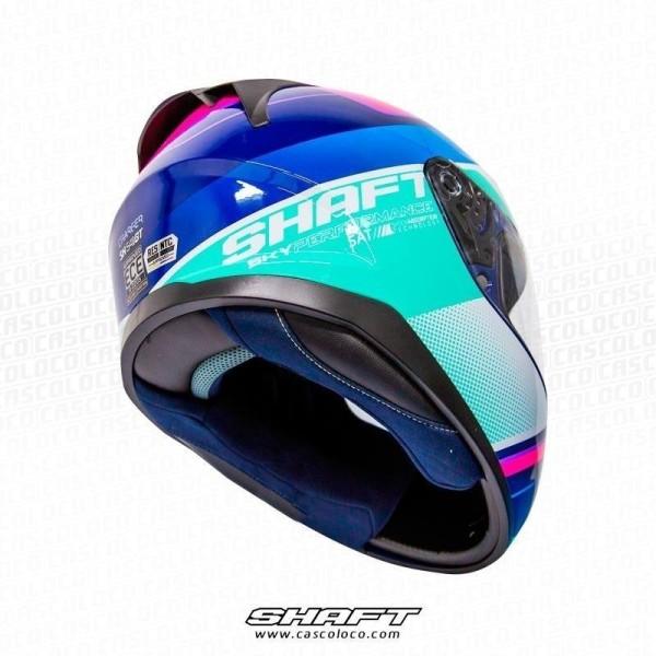Casco Integral Certificado Shaft 541 Charger Fucsia Moto Proteccion Unisex Cascoloco DFR Distriramirez