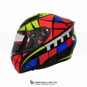 Casco Integral Certificado MT Revenge Speeding Multicolor Motero Cascoloco