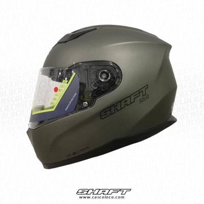 Casco Integral Certificado Moto Proteccion Shaft 520 Gris Titanio Hombre Motero Cascoloco