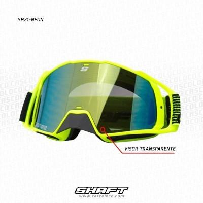 Gafas Protectoras para Casco Cross Moto Proteccion Shaft SH21 Motero Cascoloco