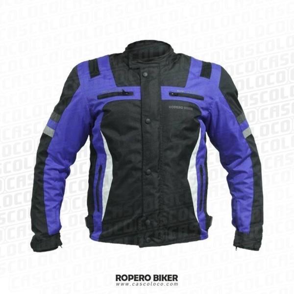 Chaqueta Ropero Biker con Protecciones Certificadas Impermeable Antifriccion Adrenaline 4069 Hombre Motero Cascoloco DFR