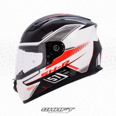 Casco Integral Moto Proteccion Shaft 520 Racing Team Blanco Certificado Hombre Motero Cascoloco Distriramirez