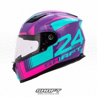 Casco Integral Moto Proteccion Shaft 520 Proof Certificado Mujer Motera Cascoloco