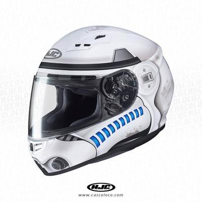 Casco Integral Certificado HJC CS15 Star Wars Stormtrooper Moto Proteccion Motero Cascoloco Distriramirez