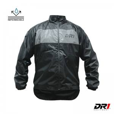 Chaqueta Cortaviento Impermeable DR1 Clasica Negra Moto Accesorios Motero Hombre Cascoloco Distriramirez