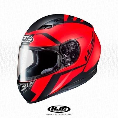 Casco Integral Certificado HJC CS-15 Faren Rojo Moto Proteccion Hombre Motero Cascoloco Distriramirez