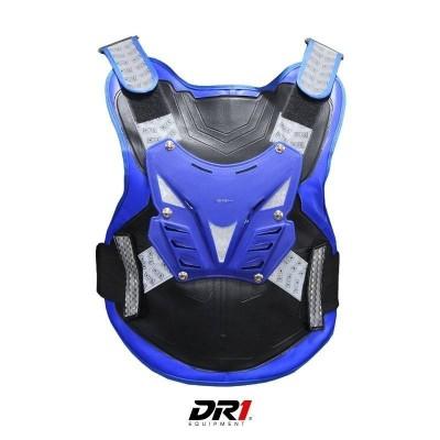 Pechera Protector de Columna Moto Proteccion DR1 Shield Negro Azul Unisex Cascoloco Distriramirez