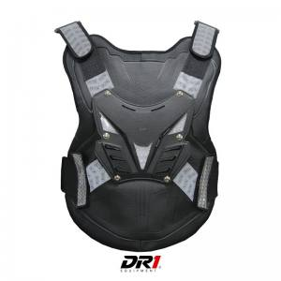 Pechera Refletiva Protector de Columna Moto Proteccion DR1 Shield Negro Unisex Cascoloco Distriramirez