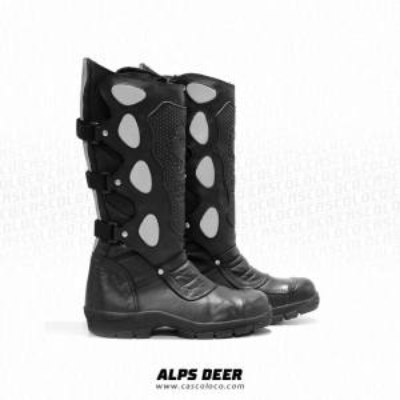 Botas Dotacion Alps Deer Full Moto proteccion Mensajero Escolta Vigilante Cuero Hombre Motero Cascoloco Distriramirez