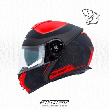 Casco Abatible Certificado Shaft 3900 Worldmaster Moto Proteccion Motociclista Cascoloco Distriramirez