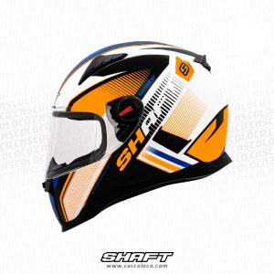 Casco Integral Certificado Shaft 564 Street Law Moto Proteccion Motociclista Cascoloco DFR Distriramirez