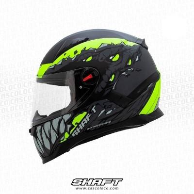 Casco Integral Certificado Shaft 564 Twosides Blanco Moto Proteccion Motociclista Cascoloco DFR Distriramirez