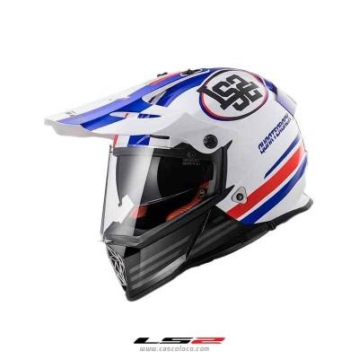 Casco Multiproposito Certificado LS2 MX436 Pionner Quarterback Blanco Moto proteccion motociclista cascoloco
