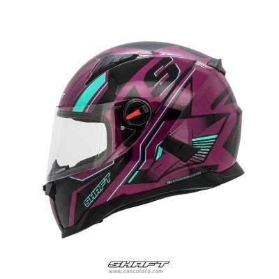Casco Integral Certificado Shaft 564 Fox Turquoise Moto Proteccion Mujer Motociclista Cascoloco Distriramirez