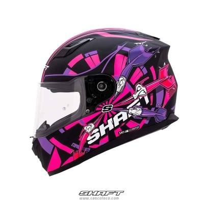 Casco Integral Certificado Shaft 520 Drat Fucsia Moto Proteccion Mujer Motociclista Cascoloco Distriramirez