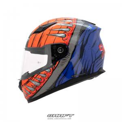 Casco Integral Certificado Shaft 520 Swallow Naranja Azul Moto Proteccion Hombre Motociclista Cascoloco Distriramirez