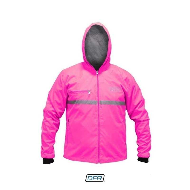 chaqueta cortaviento doble faz semi impermeable towfold motociclista mujer cascoloco dfr distriramirez
