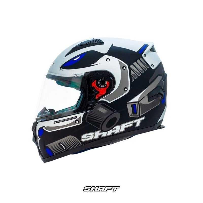 Casco Integral Certificado Shaft 581 Strike Azul Moto Proteccion Motociclismo Hombre Motociclista Cascoloco DFR Distriramirez