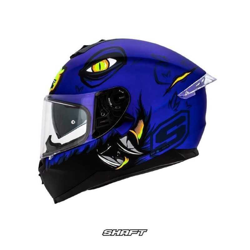 Casco Integral Certificado Shaft Pro 600 Scary Azul Moto Proteccion Mujer Motociclista Cascoloco distriramirez