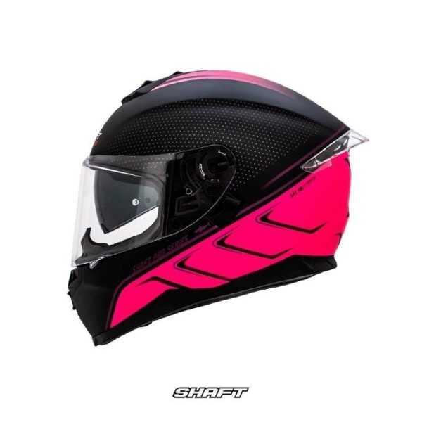 casco integral certificado shaft pro 600 nightshark fucsia moto proteccion mujer motociclista cascoloco distriramirez