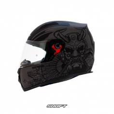 casco integral certificado moto proteccion shaft 581 bhoka negro motociclista cascoloco distriramirez