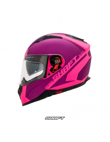 casco integral certificado shaft 570 speaker fucsia moto proteccion mujer motociclista cascoloco distriramirez